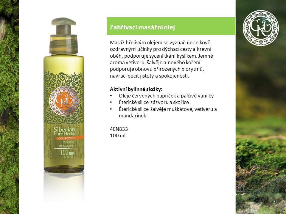 Zahřívací masážní olej Masáž hřejivým olejem se vyznačuje celkově ozdravnými účinky pro dýchací cesty a krevní oběh, podporuje sycení tkání kyslíkem.