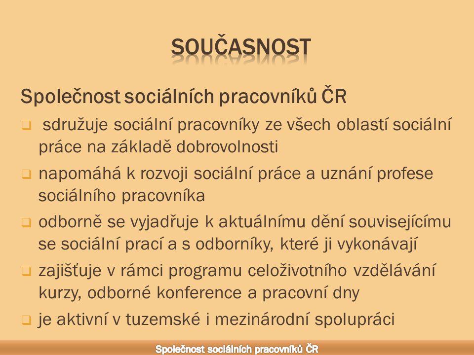 Je autorem Etického kodexu, který je nedílnou součástí výkonu činností sociálních pracovníků v České republice Etický kodex byl schválen plénem Společnosti sociálních pracovníků 19.
