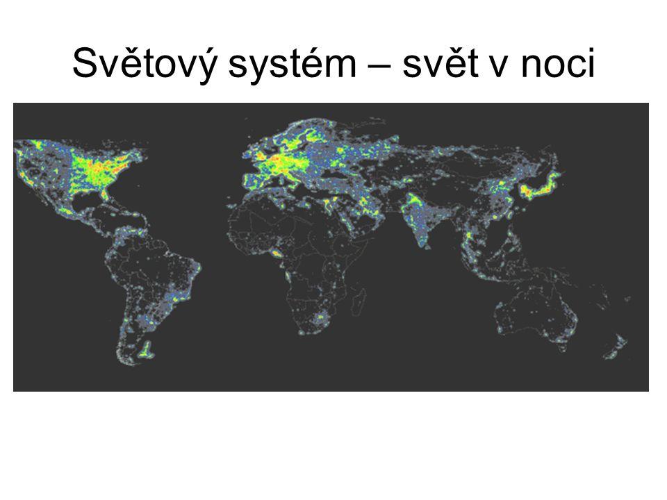 Světový systém – svět v noci