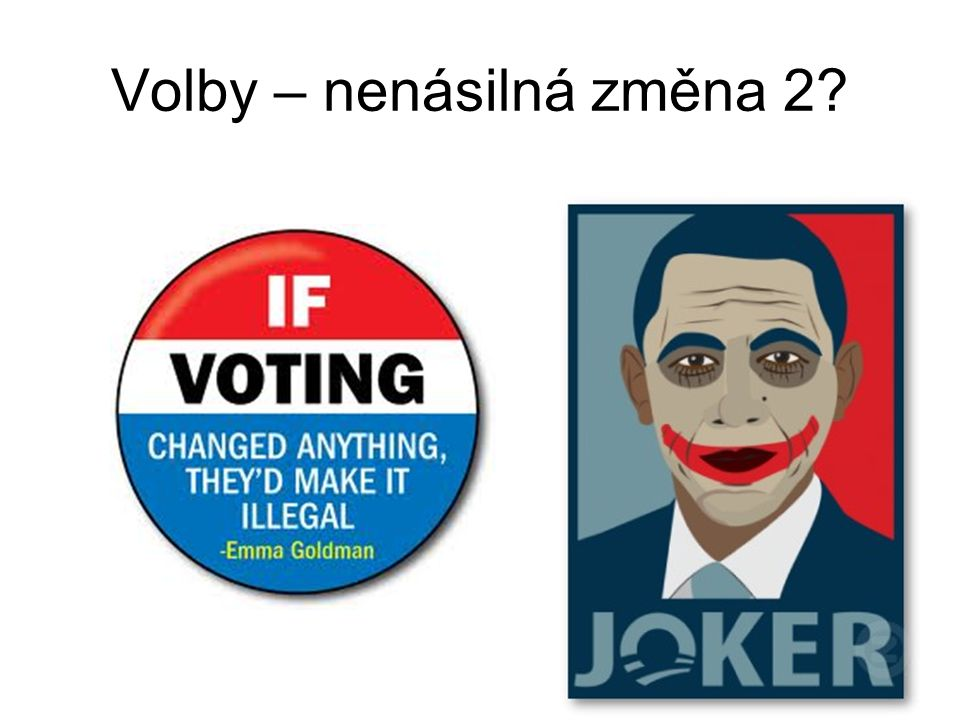 Volby – nenásilná změna 2