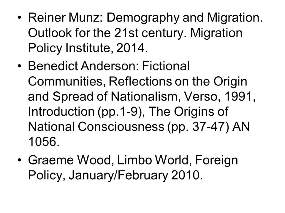 Reiner Munz: Demography and Migration. Outlook for the 21st century.