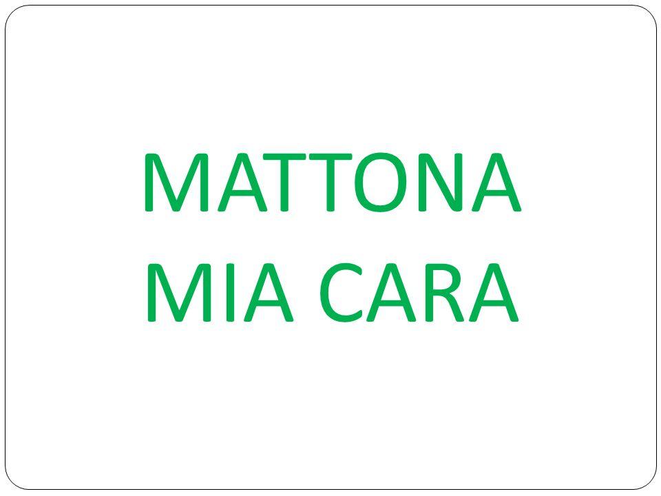MATTONA MIA CARA