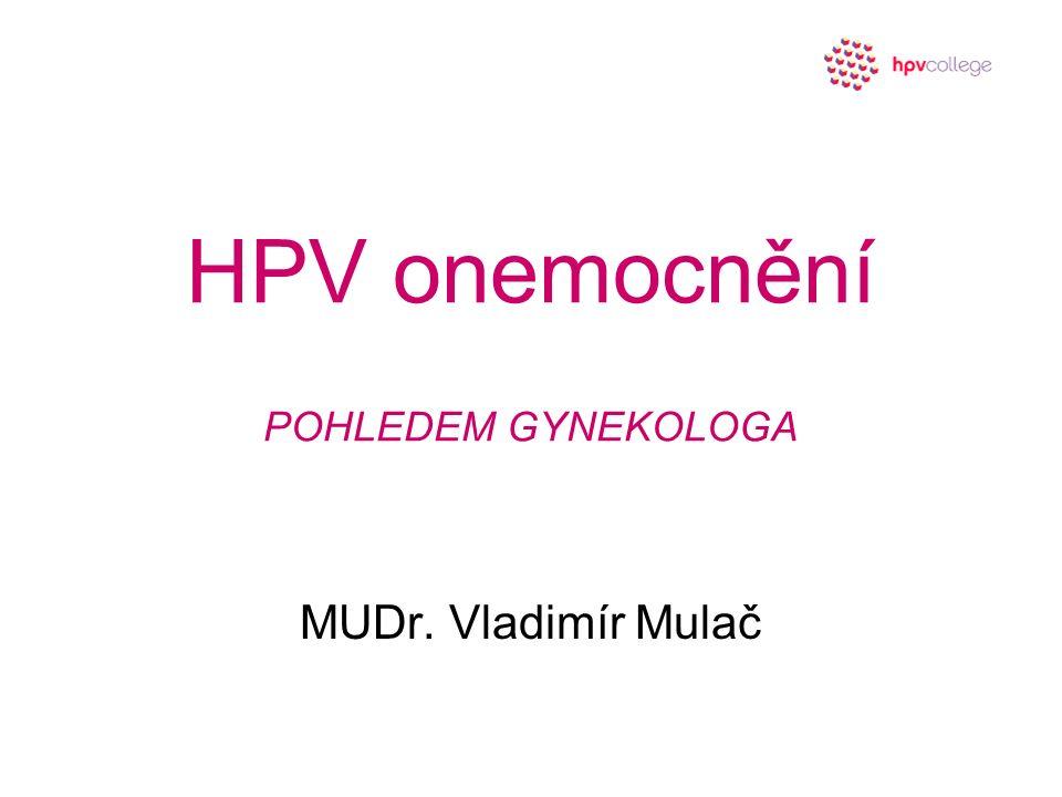 HPV onemocnění POHLEDEM GYNEKOLOGA MUDr. Vladimír Mulač