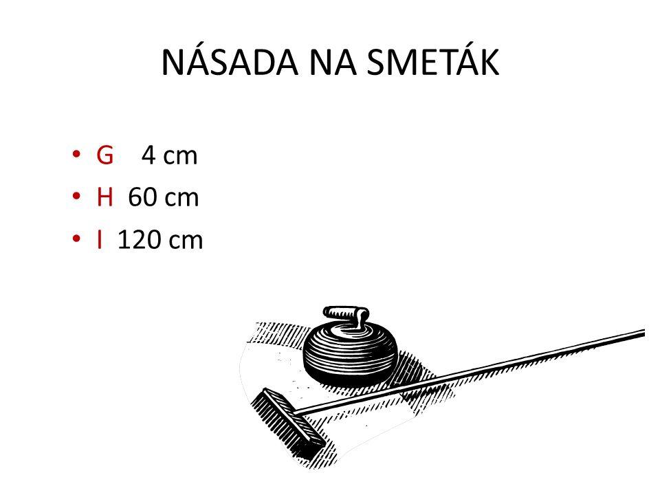 NÁSADA NA SMETÁK G 4 cm H 60 cm I 120 cm