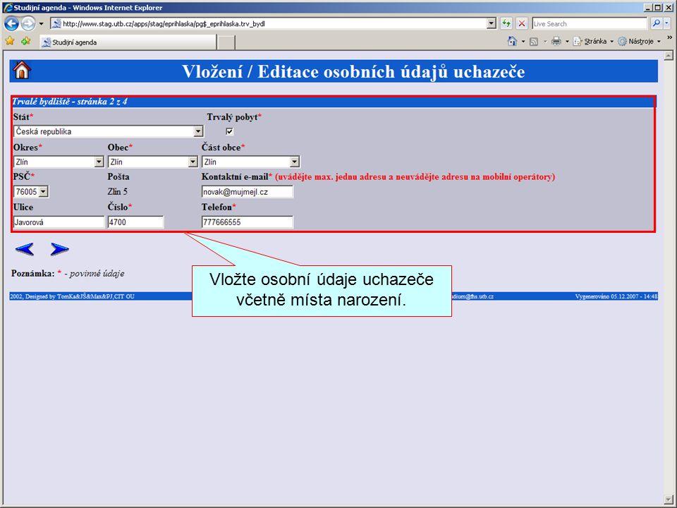 Elektronická přihláška www.eprihlaska.cz