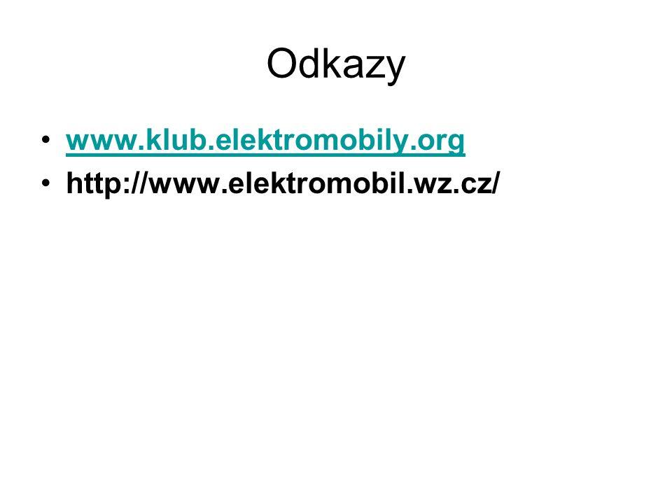Odkazy www.klub.elektromobily.org http://www.elektromobil.wz.cz/