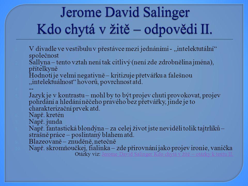 SALINGER, Jerome David.