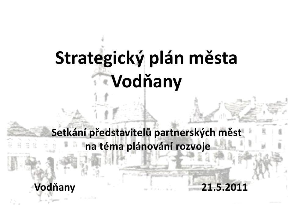 Strategický plán města Vodňany Setkání představitelů partnerských měst na téma plánování rozvoje Vodňany 21.5.2011