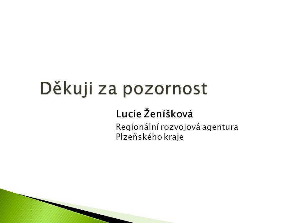 Lucie Ženíšková Regionální rozvojová agentura Plzeňského kraje
