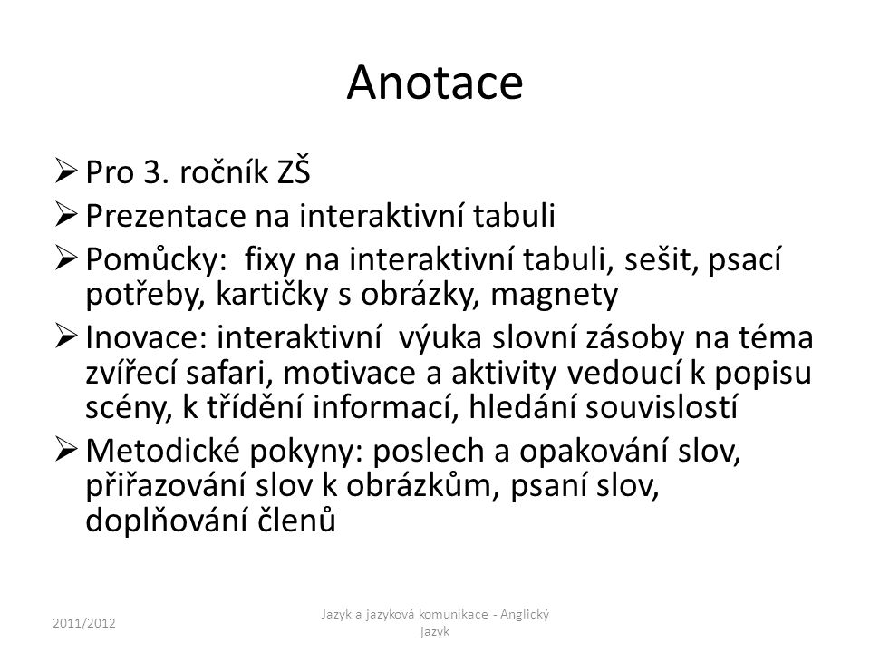 Anotace  Pro 3.