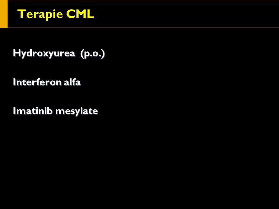 Terapie CML Hydroxyurea (p.o.) Interferon alfa Imatinib mesylate