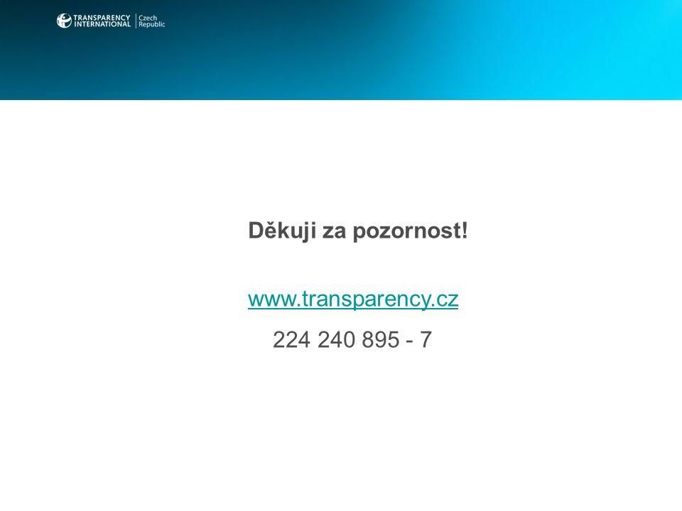 Děkuji za pozornost! www.transparency.cz 224 240 895 - 7