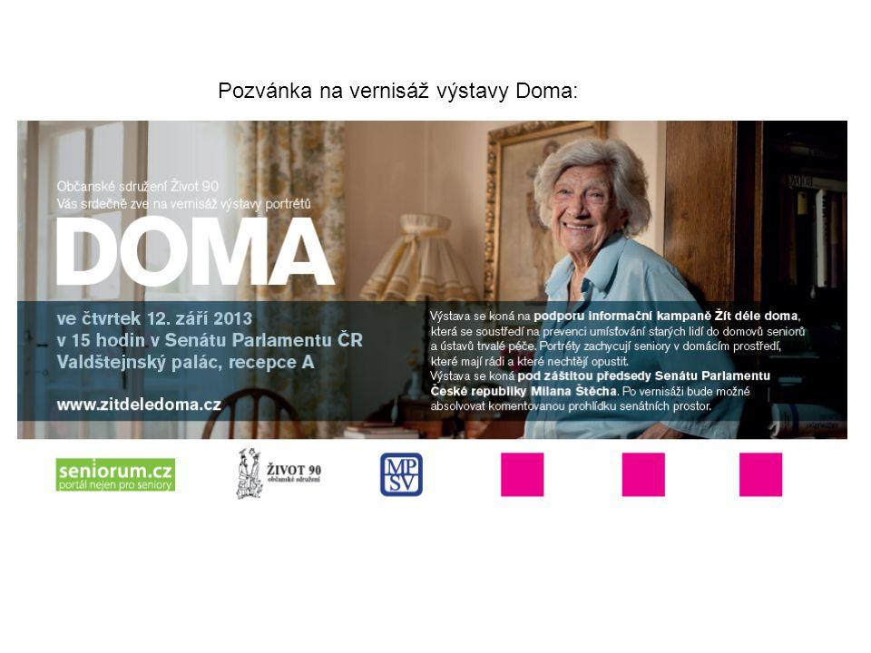 Pozvánka na vernisáž výstavy Doma: