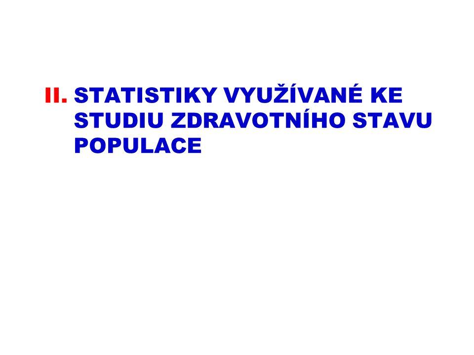 II.STATISTIKY VYUŽÍVANÉ KE STUDIU ZDRAVOTNÍHO STAVU POPULACE