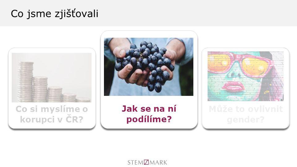 Co si myslíme o korupci v ČR Může to ovlivnit gender Co jsme zjišťovali Jak se na ní podílíme