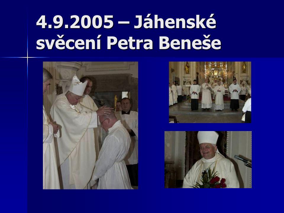 4.9.2005 – Jáhenské svěcení Petra Beneše