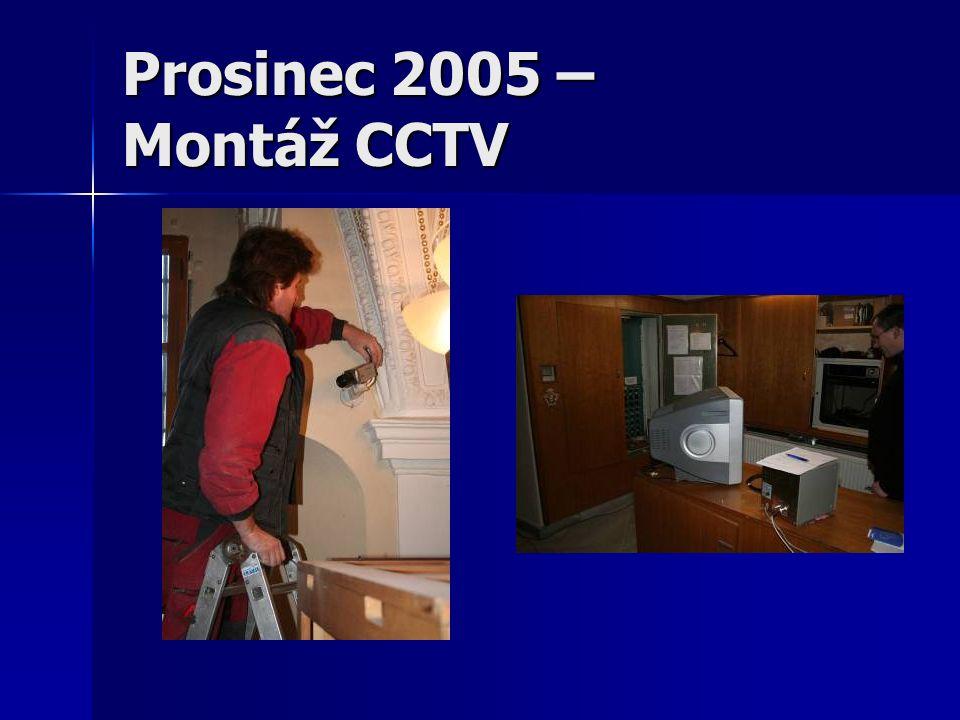 Prosinec 2005 – Montáž CCTV