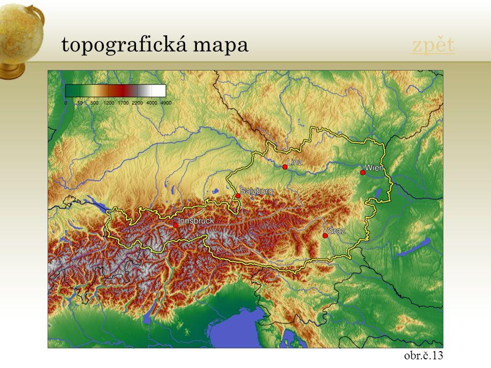 topografická mapa zpětzpět obr.č.13