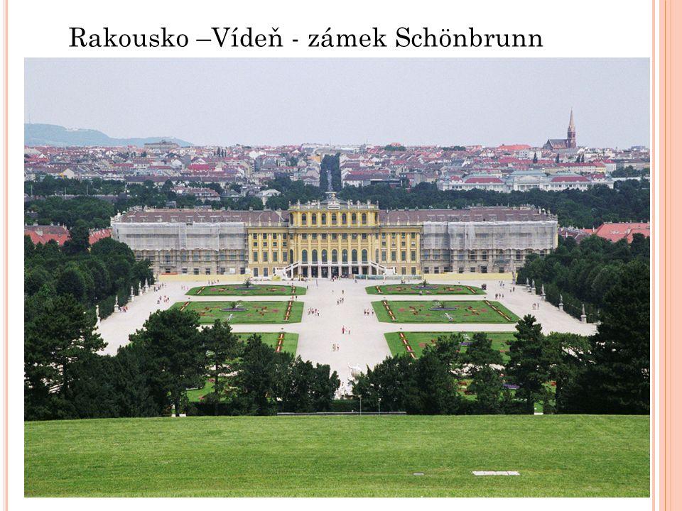 Rakousko –Vídeň - zámek Schönbrunn