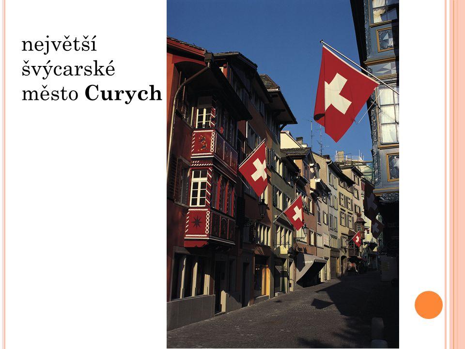 největší švýcarské město Curych