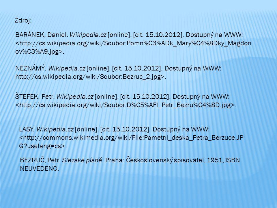 NEZNÁMÝ. Wikipedia.cz [online]. [cit. 15.10.2012].