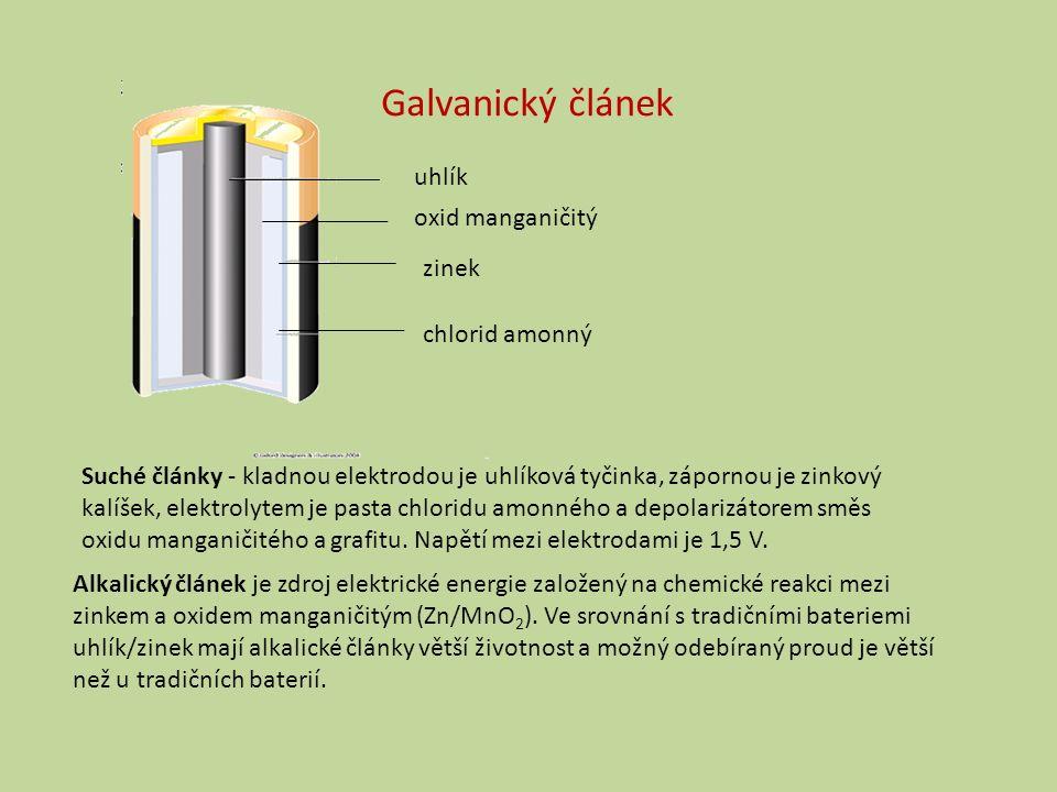 Alkalický článek je zdroj elektrické energie založený na chemické reakci mezi zinkem a oxidem manganičitým (Zn/MnO 2 ).
