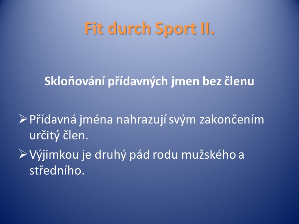 Fit durch Sport II.