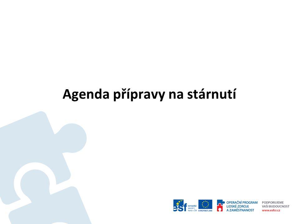 Agenda přípravy na stárnutí I Současnost – 2015: Organizační a personální změny na MPSV k 1.