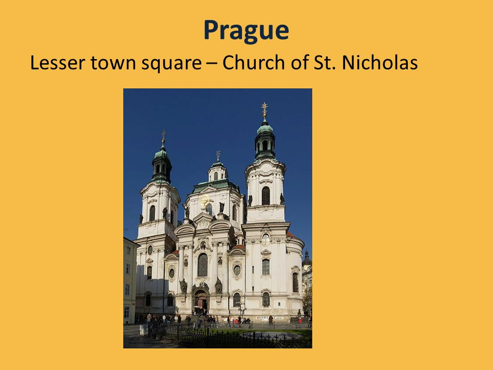 Prague Lesser town square – Church of St.