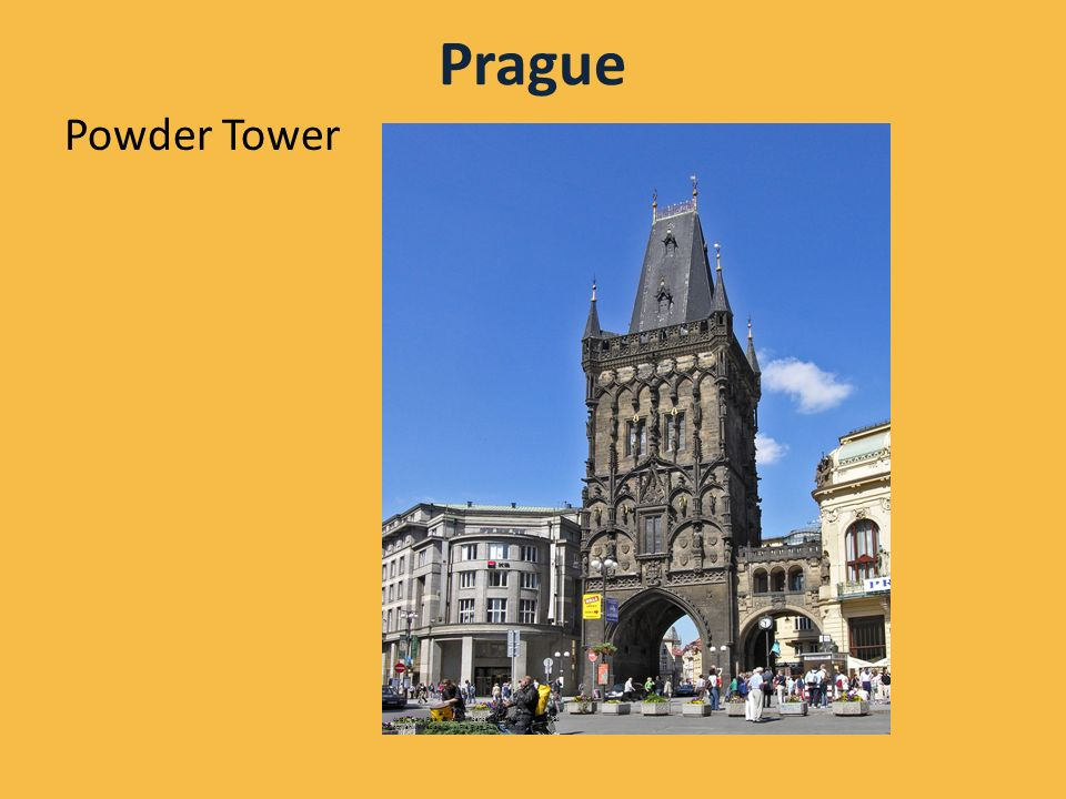 Prague Powder Tower Autor: Hans Peter Schaefer, licence Creative Commons, BY-SA http://en.wikipedia.org/wiki/File:Prag_Pulverturm.jpg