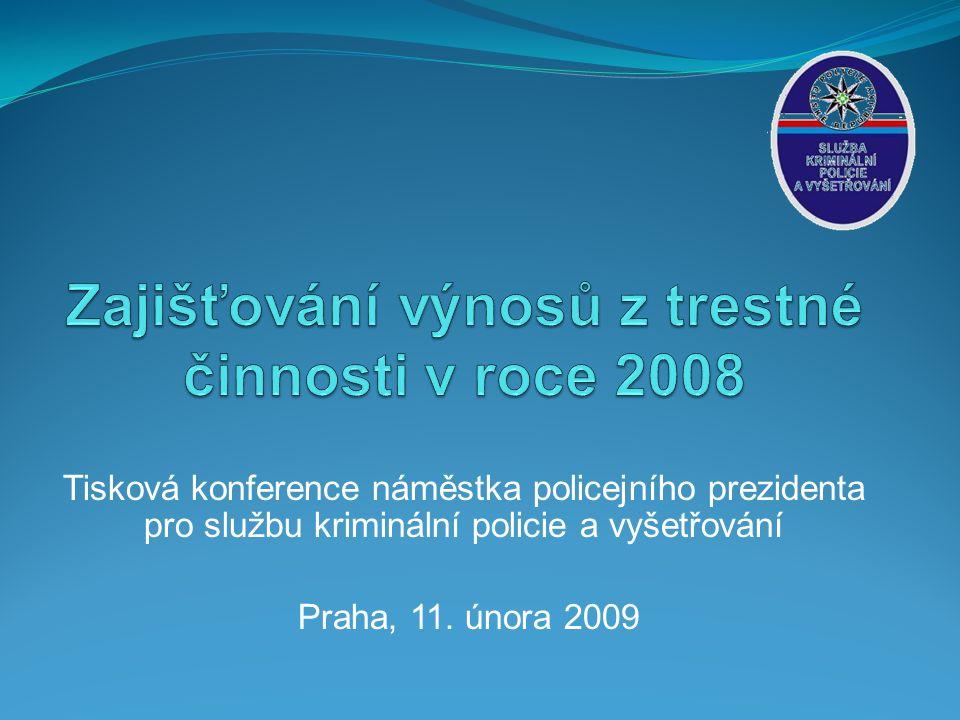 Tisková konference náměstka policejního prezidenta pro službu kriminální policie a vyšetřování Praha, 11.