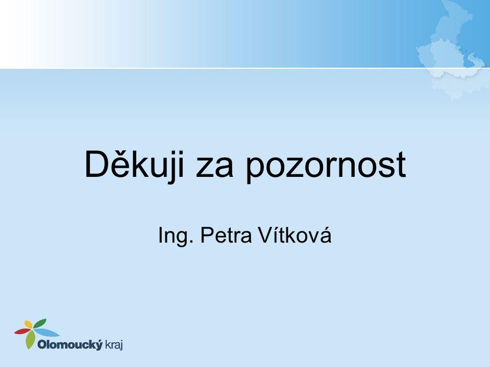 Děkuji za pozornost Ing. Petra Vítková