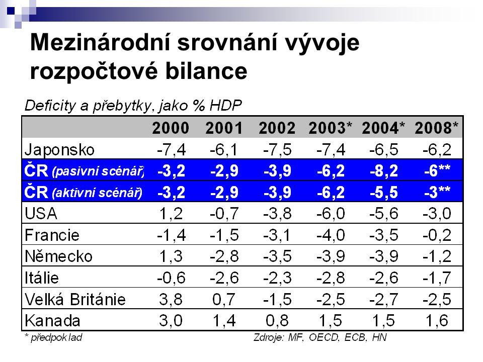 Mezinárodní srovnání vývoje rozpočtové bilance