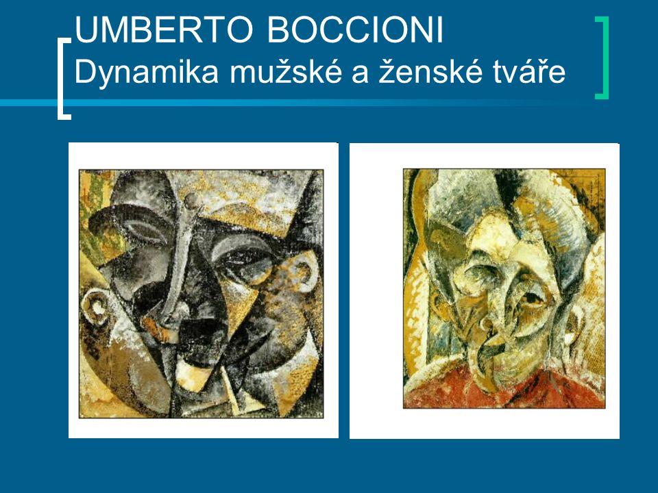 UMBERTO BOCCIONI Dynamika mužské a ženské tváře