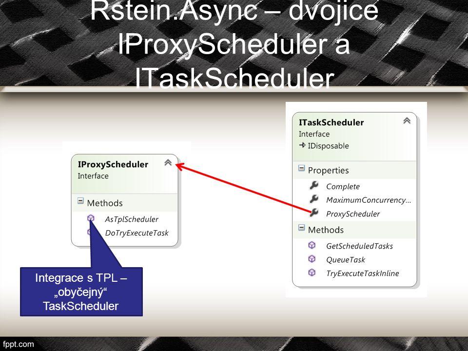 """Rstein.Async – dvojice IProxyScheduler a ITaskScheduler Integrace s TPL – """"obyčejný"""" TaskScheduler"""