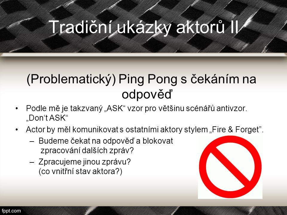 """Tradiční ukázky aktorů II (Problematický) Ping Pong s čekáním na odpověď Podle mě je takzvaný """"ASK"""" vzor pro většinu scénářů antivzor. """"Don't ASK"""" Act"""