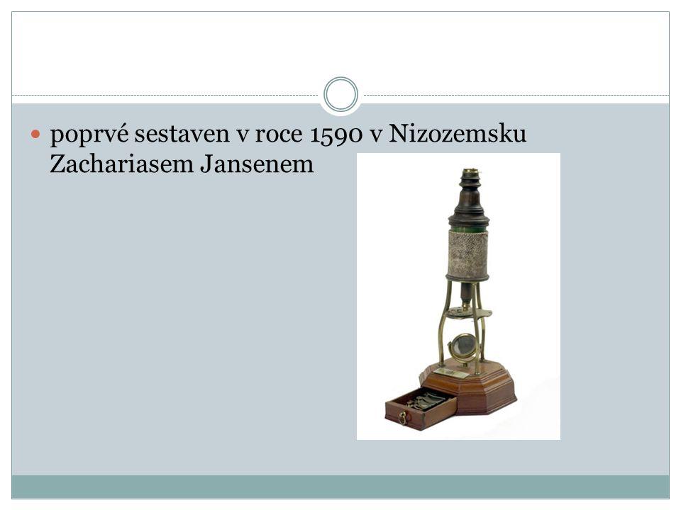 Popis Mikroskop - dvě soustavy čoček, které mají společnou optickou osu.
