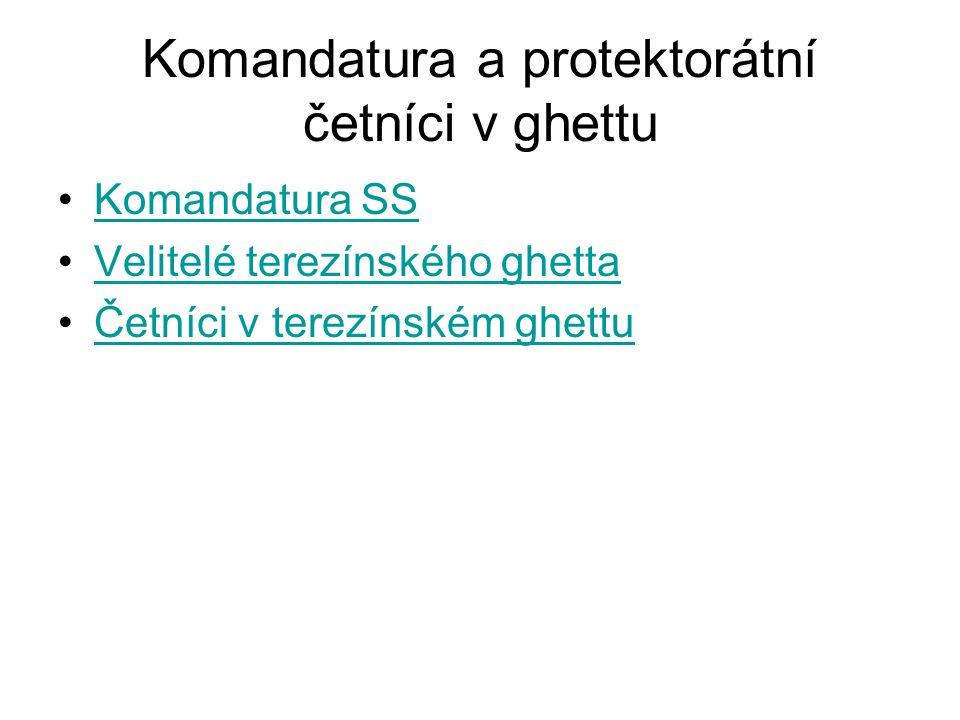 Komandatura SS Velitelé terezínského ghetta Četníci v terezínském ghettu