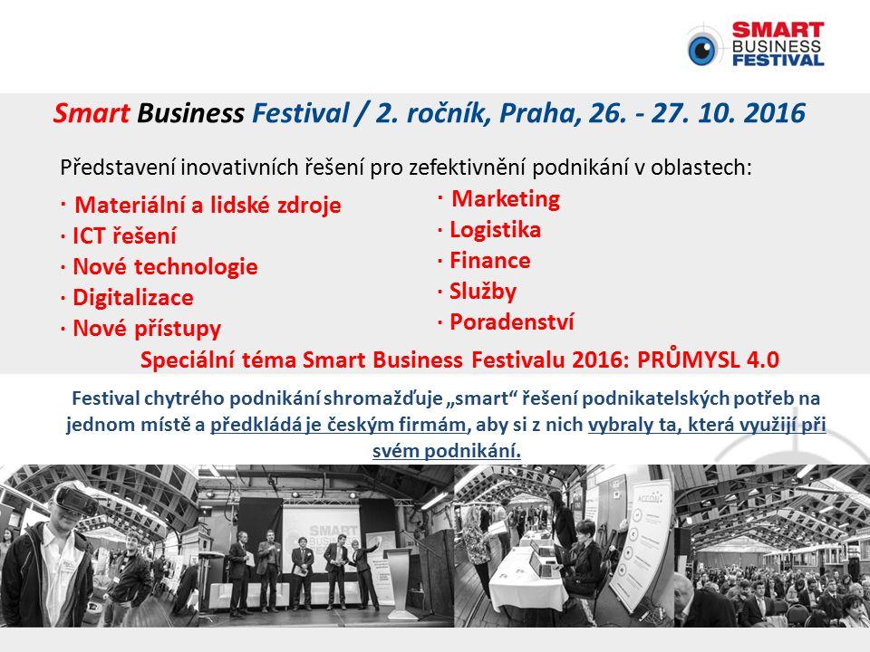 Smart Business Festival / 2. ročník, Praha, 26. - 27.