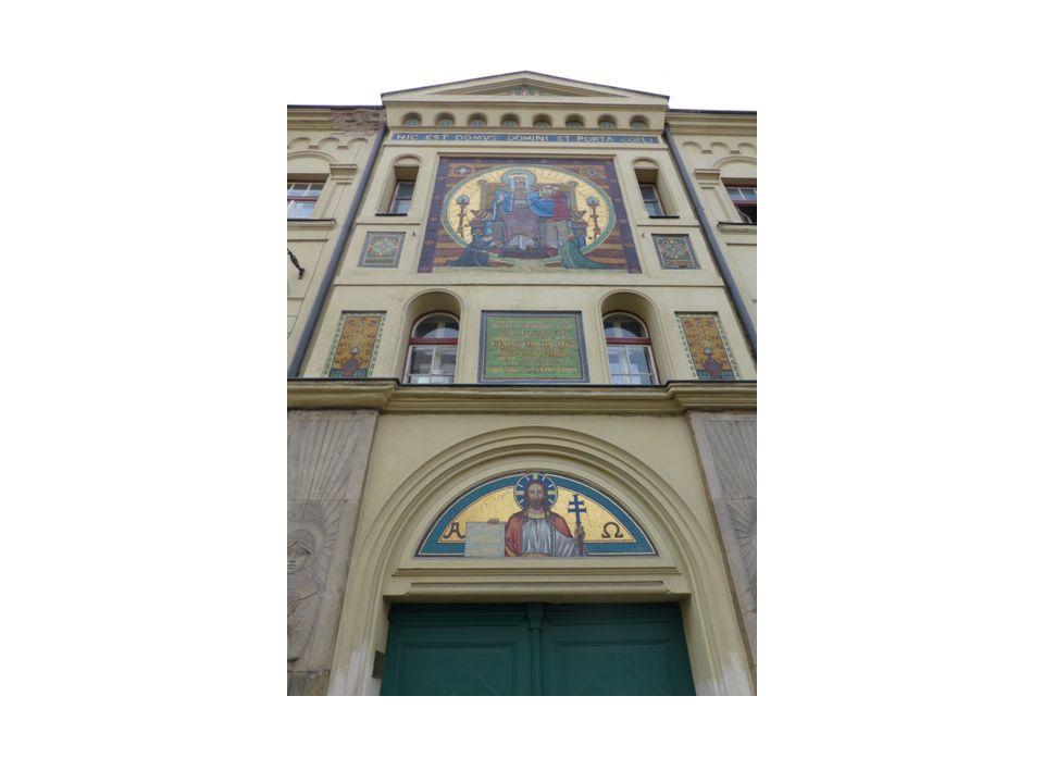 Stavební styl a poloha kostela Kostel byl postaven do okolní zástavby na dnešní Žižkově třídě Postaven v neorománském stylu Interiér ve stylu tzv.