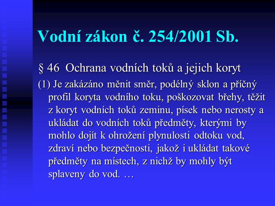 Vodní zákon č. 254/2001 Sb.