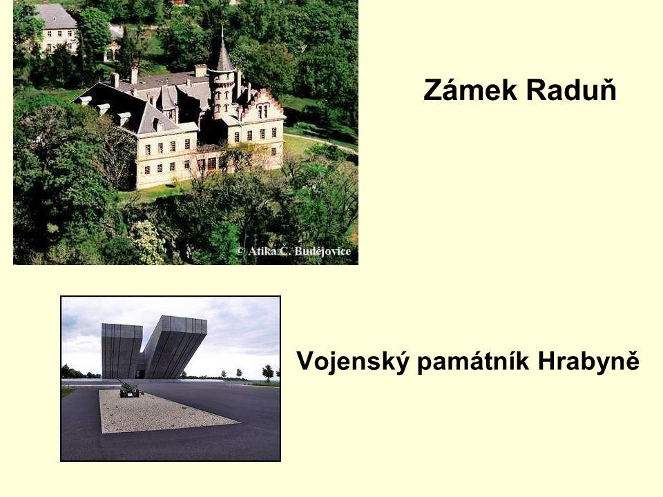 Zámek Raduň Vojenský památník Hrabyně