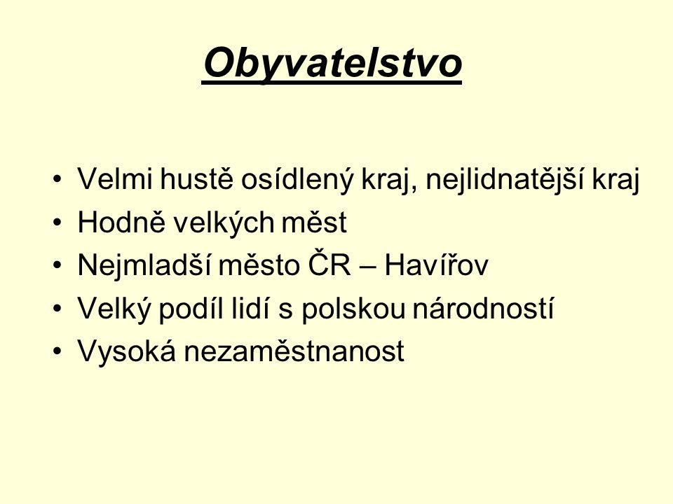 Nezaměstnanost v ČR Obce s více jak 10% Poláků