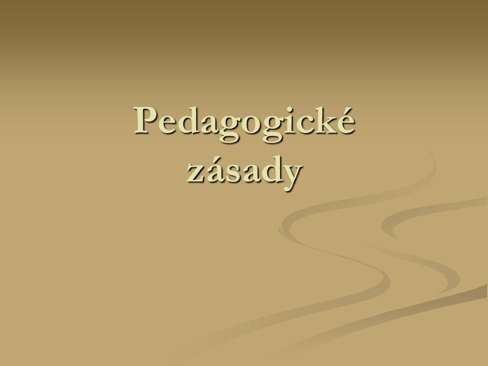 Pedagogické zásady