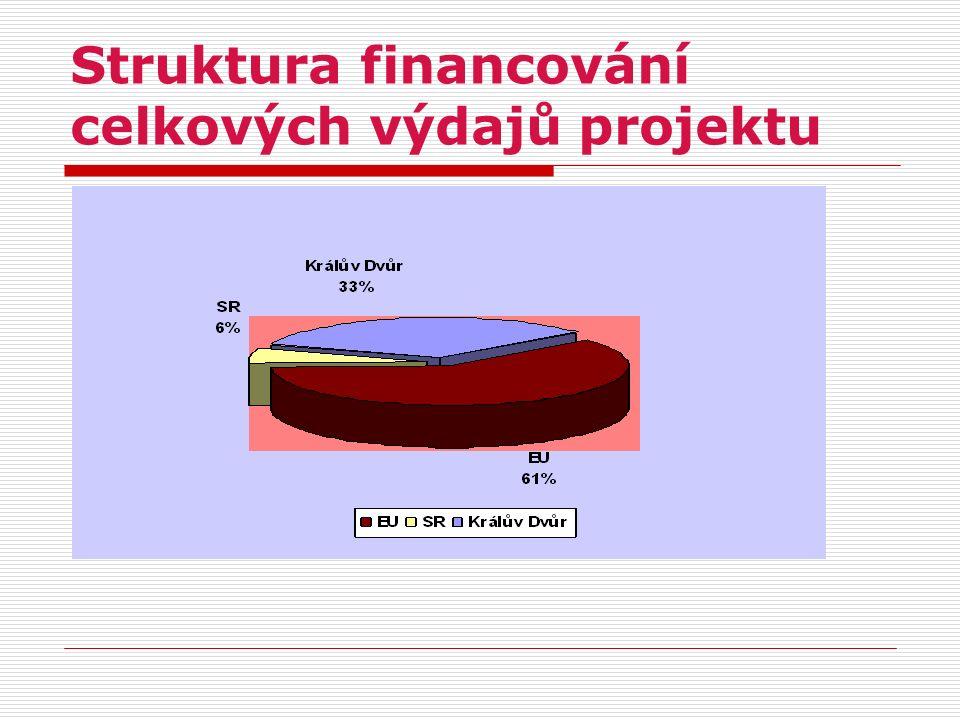 Struktura financování celkových výdajů projektu