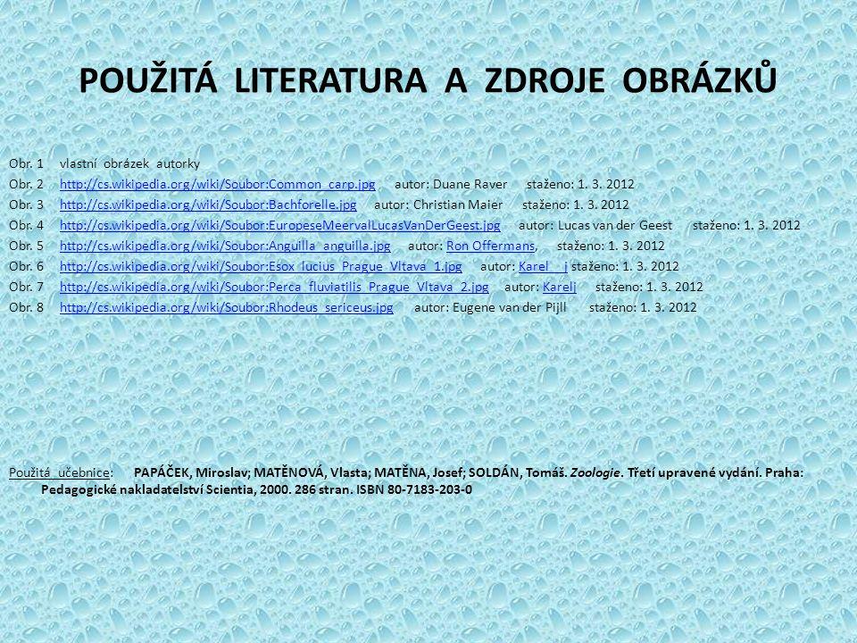 POUŽITÁ LITERATURA A ZDROJE OBRÁZKŮ Obr.1 vlastní obrázek autorky Obr.
