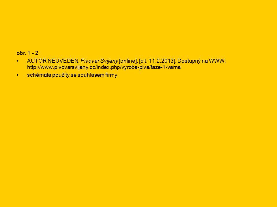 obr.1 - 2 AUTOR NEUVEDEN. Pivovar Svijany [online].