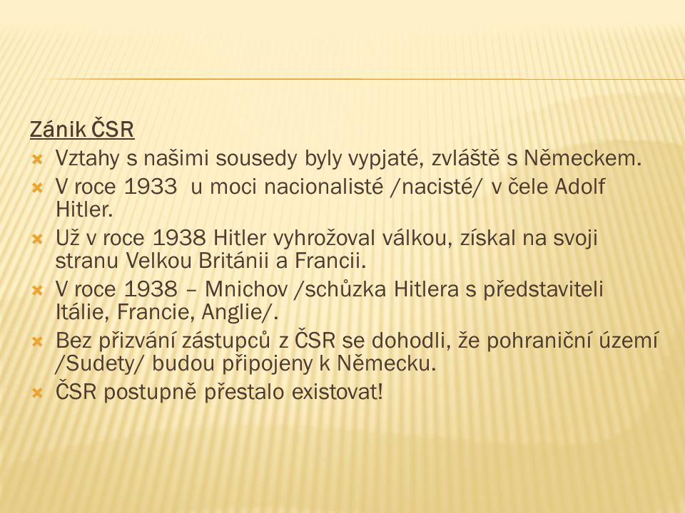  1.Z kterých území se skládala ČSR.  2. Kdo byl zvolen prvním prezidentem.