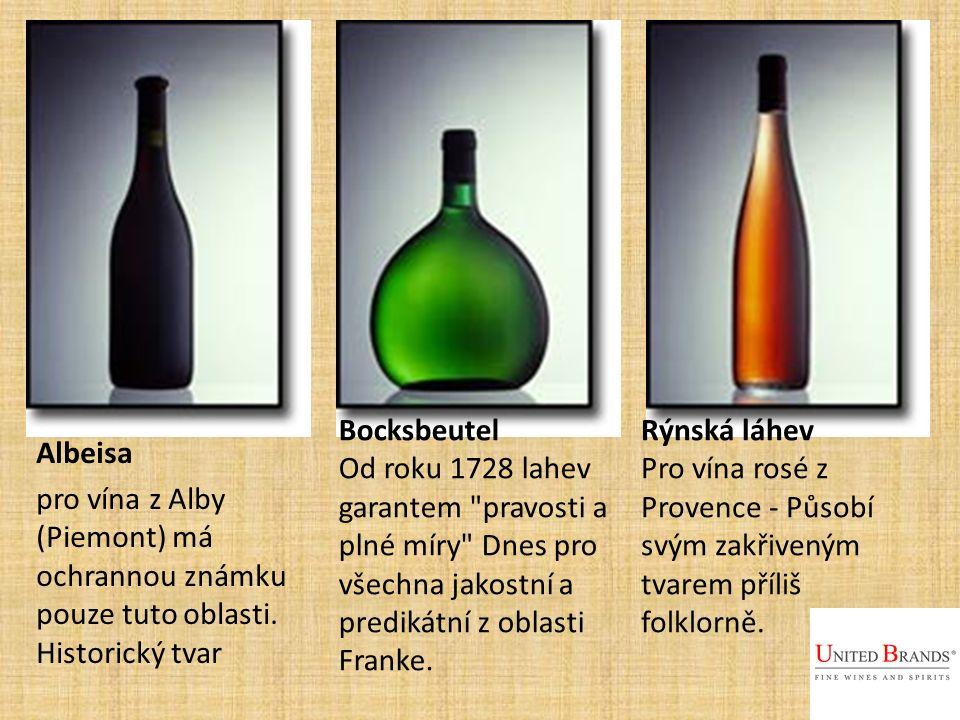 Albeisa pro vína z Alby (Piemont) má ochrannou známku pouze tuto oblasti.