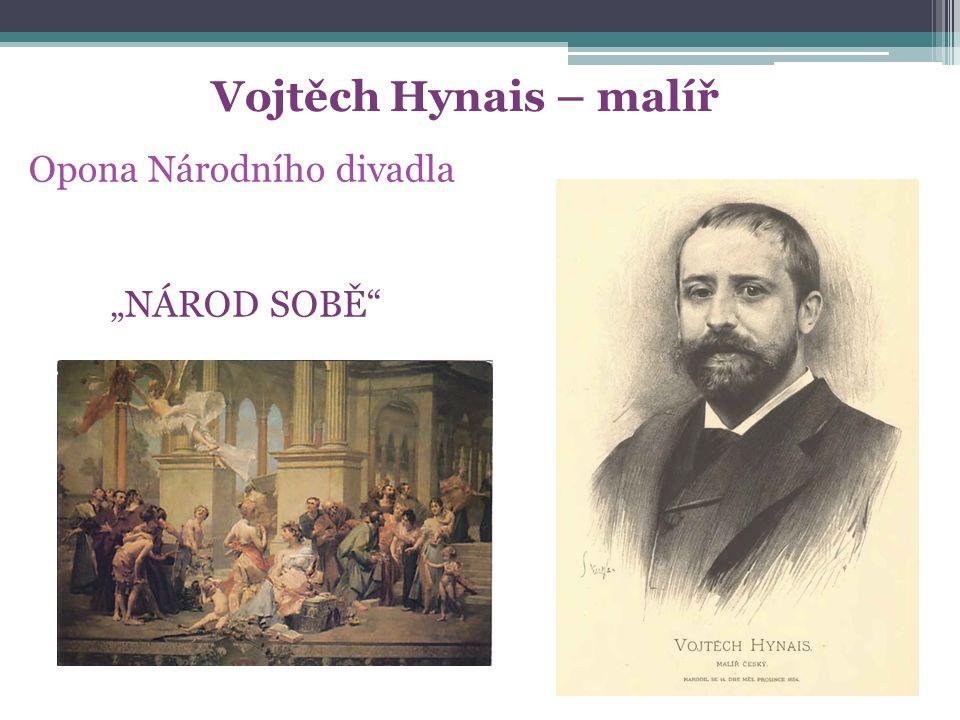 """Vojtěch Hynais – malíř Opona Národního divadla """"NÁROD SOBĚ"""""""